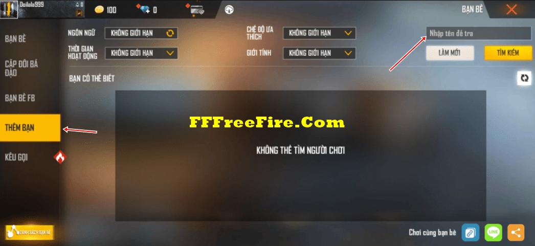cách kết bạn trong free fire