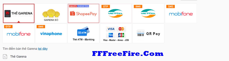 nạp thẻ Free Fire