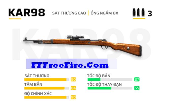 TOP 10 khẩu súng mạnh nhất trong Free Fire